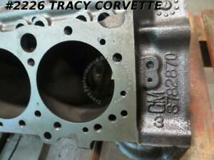 1962 Chevy Corvette Used 3782870 1961 Dated Early 327 V 8 1 Flint Bare Block