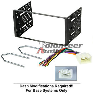 1998 2011 Double Din Radio Mount Kit For Stereo Cd Player Install W Wire Harness
