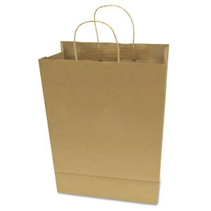 Garvey Premium Brown Paper Shopping Bags Large 17 X 12 X 6 5 50 box 091566