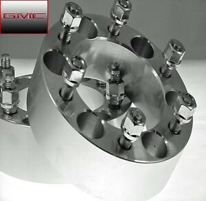 2pc Gmc Canyon 6 Lug Wheel Spacers Adapters 1 25 Inch With Lugs Ap 6550b1215