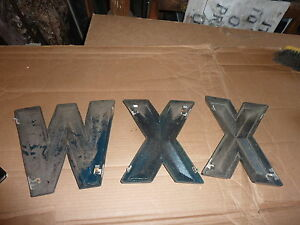 C1950 60 S Movie Marquee Letters W X X Plastic Back Lit Red Color 11