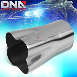 2 25 Id 4 Od Weld On 4 1 Stainless Turbo Header Manifold Exhaust Merge Collector