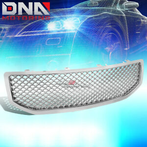 For 06 10 Dodge Caliber Sports Mesh Front Hood Bumper Chrome Grill grille Guard