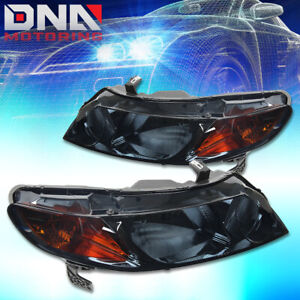 For Honda Civic 2006 2011 4dr Sedan Smoked Housing Amber Headlights Corner Lamp