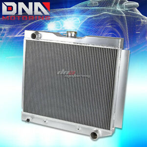 For 49 54 Chevy Bel Air Corvette Fleetline V8 3 Row Core Full Aluminum Radiator