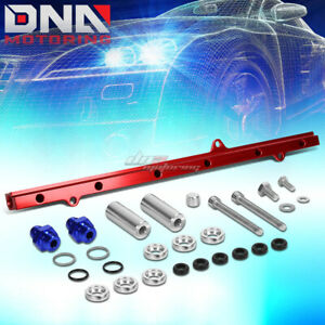 Red Cnc Aluminum Top Feed Fuel Injector Rail Kit For Jza80 Jz Supra Mk4 2jz Gte
