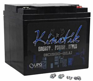 Kinetik Hc1200 blu 1200 Watt Blue Power Cell car Battery Audio System Agm Hc1200