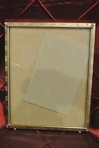 Vintage Metal Gold Color Picture Frame Great Decor Piece No Easel