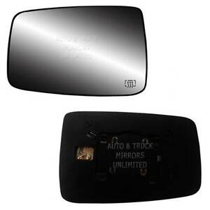 New Mirror Glass With Backing Heated Dodge Ram Pickup Driver Side Non Towing