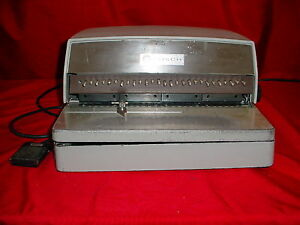 General Binding Corp Gbc Electric Desktop 111 pm Paper Punch W Foot Control
