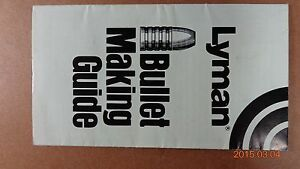 1985 Lyman Bullet Making Guide two sided UNFOLDS TO 12quot; x 14quot; $5.05