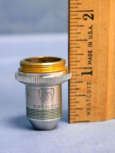 Vintage American Optical Ao Spencer 10x N a 25 Microscope Objective Lens