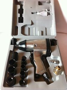 New Metric 17pcs 1 2 Air Impact Wrench Gun Kit Sockets W case