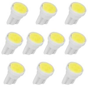 10x T10 Cob W5w 168 194 2825 Led Trunk License Plate Map Light Bulbs White 6000k