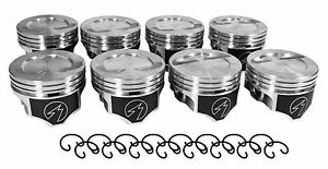383 Stroker Sbc Chevy Speed Pro Dish Piston 5 7 4 030 Set Of 8