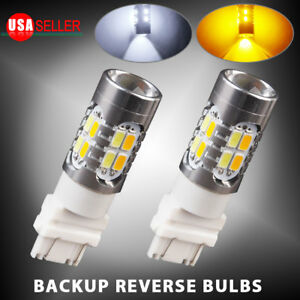 2x High Power 5730 Chip 3157 Dual Color Switchback Smd Led Tail Brake Light Bulb