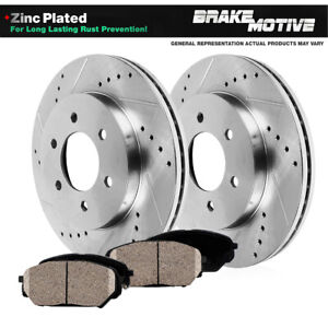 Front Kit Drilled And Slotted Brake Rotors Ceramic Pads Toyota 4runner Tacoma