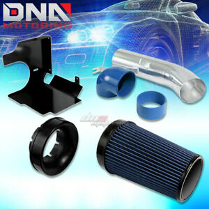 For 99 06 Gmt800 Cadillac Escalade Ext V8 Air Intake Blue Filter Heat Shield