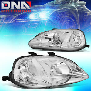 For Honda Civic 1999 2000 Ek Jdm Type R Look Chrome Housing Clear Headlights