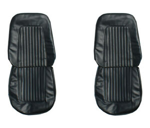 67 68 Camaro Standard Front Seat Upholstery Covers Black Pui New