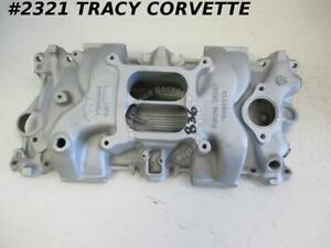 1955 1990 Chevy Used 14044836 Sbc Aluminum Intake Manifold For Late Style Heads