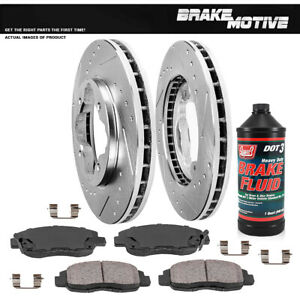 Front Kit Drilled And Slotted Brake Rotors Ceramic Pads Acura Cl Honda Accord