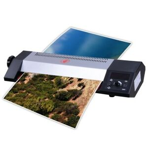 13 Steel Hot Cold Thermal Laminator A3 A4 Lcd Display 4 Roller Machine Photos