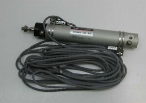 Smc Cylinder Ncdgba20 0400 b73l 20mm Bore 4 Inch Stroke W Adjustable Stops