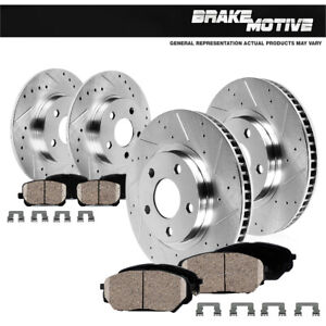 Front Rear Brake Rotors And Ceramic Pads For 2005 2006 2007 2010 Honda Odyssey
