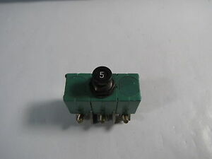 Aircraft Circuit Breaker For Boeing Bacc18ac5 6tc6 5 3 phase 5 Amps New