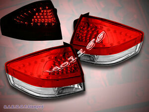 08 11 Ford Focus Tail Lights Red Clear With Led Brand New