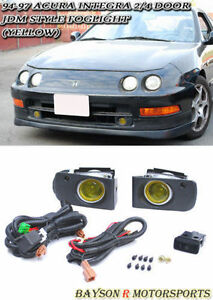 Jdm Projector Fog Lights Yellow Fits 94 97 Integra 2 4dr