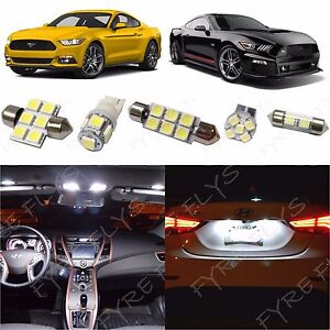 8x White Led Lights Interior Package Kit 2015 2017 2018 2019 2020 Ford Mustang