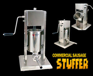 New Mtn 5l Tank Stainless Steel Commercial Restaurant Sausage Stuffer Free Tubes