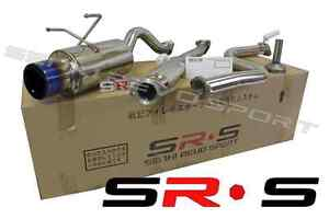 Jdm Srs Stainless Steel Catback Exhaust 92 95 Civic Hatch Back Hb Burnt Tip
