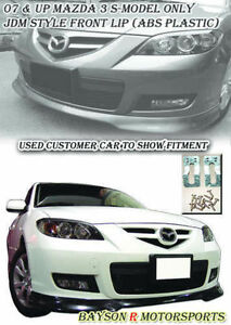 Jdm Style Front Lip abs Fits 07 09 Mazda 3 4dr S model