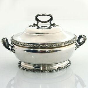Tetard Freres Sterling Silver Soup Tureen Serving Dish Paris France Circa 1903