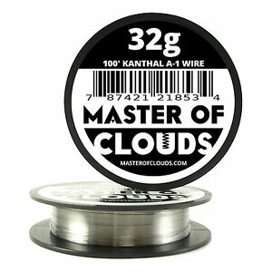 100 Ft 32 Gauge Awg A1 Kanthal Round Wire 0 20 Mm Resistance A 1 32g Ga 100