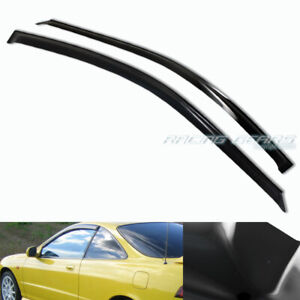 Smoke Acrylic Sun Shield Door Guard Window Visor 2pcs Fit 94 01 Acura Integra