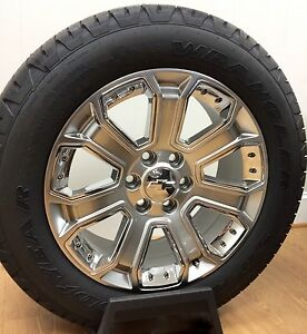 New Chevy Silverado Suburban Tahoe Avalanche Silver Chrome 20 Wheels Rims Tires