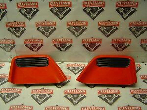 1993 1997 Pontiac Firebird Trans Am Oem Set Of Front Hood Scoops Left Right Red