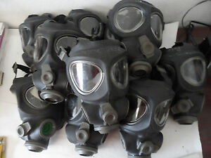 10 X Scott M95 Full Face Respirator Nbc Gas Mask Swat Military Police Prepper