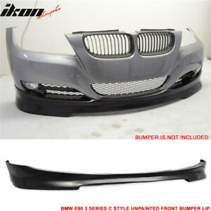 Fits 09 12 Bmw E90 Lci 4 Door Sedan Front Bumper Lip Spoiler Splitter C Style Pu