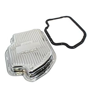 Gm Chevy Turbo 400 Chrome Automatic Transmission Pan Stock Cap Th400 W Gasket