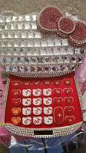 New Hello Kitty Super Bling Bling Calculator Red Color Super Cute Nib