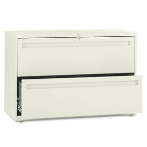 Hon Brigade 700 Series Two drawer Lateral File 42w X 19 1 4d X 28 3 8h Putty