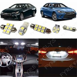 14x White Led Lights Interior Package Kit For 2012 2018 2019 Toyota Camry Tool
