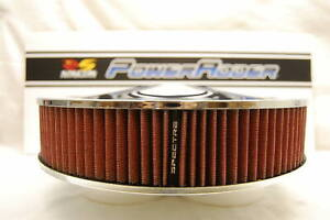 Spectre 47608 Chrome Air Cleaner Red K N Style Filter 14x3 Drop Base Low Profile