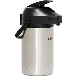 Bunn 3l Lever action Stainless Steel Airpot Coffee Tea Hot Beverage Dispenser