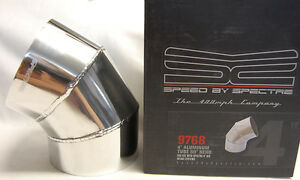 Spectre 9768 4 Od 60 Degree Polished Fabricated Aluminum Cold Air Intake Tube